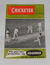 THE CRICKETER MAGAZINE SEPTEMBER 3RD 1960 - ENGLAND V SOUTH AFRICA 5TH TEST