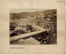 Genua, Terrazzo di marmo, Noack, Original Albumin-Photo, ca 1880