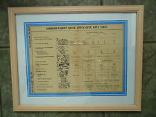 SUNBEAM TALBOT TEN 10 HP FRAMED ORIGINAL DATA CHART 1936 - 1946 PUB CAFE DISPLAY