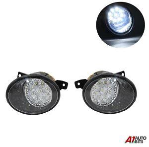Pair L & R For Vw Transporter T5 T5.1 Caravelle 2010+ 9 Led Fog Lights Lamps