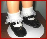 """6 Pairs Of White Knit Tube Socks Fits Shirley Temple 12"""",13"""",14"""",15""""  Doll SL6"""