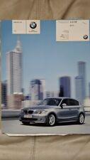 BMW Taiwan 2007 120i 130i car sales brochure catalog Chinese text