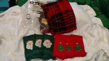 Lot 1 Christmas Tablecloth And 6 Fingertip Towels - Used Once
