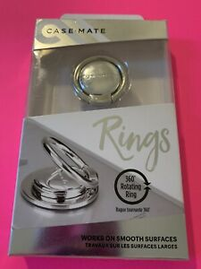 Casemate Rings - Silver Metal - Cell Phone Holder & Stand