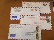 CHINA STAMPS (4) AIR MAIL POSTAL HISTORY COVERS COLLECTION 062120