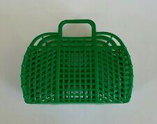 "NEW Vintage Retro GREEN 9"" (1980's) JELLY Plastic Purse/Handbag (US Made)"