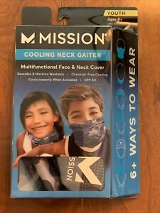 Mission Cooling Neck Gaiter (Youth, 8+) Camo Bering Sea   New!!