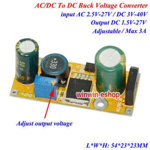 3A AC/DC to DC 5V 12V 24V Converter Adjustable Buck Step Down Voltage Regulator