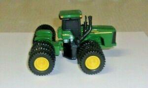 ERTL GREEN JOHN DEERE 4WD TRACTOR W/ TRIPLES FRONT & BACK LOOSE USED 1/64
