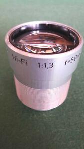 Kern Paillard-Bolex Hi-Fi 50mm f/1.3 made in Switzerland - adatable to mirorrles
