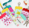 Chic Silicone Cartoon Credit Bus ID Card Holder Card Case Badge Lanyard KeyChain