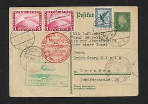 ZEPPELIN CABO VERDE INCOMING AIRMAIL FROM GERMANY COVER 1931 RARE
