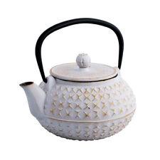 Avanti Empress Cast Iron Teapot White and Gold 900ml