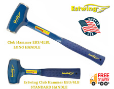 Estwing EB3/4LBL & EB3/4LB 4lb Club Hammer with Vinyl Grip - Long & Short Handle