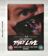 THEY LIVE - UK EXCLUSIVE BLU RAY STEELBOOK - NEW & SEALED