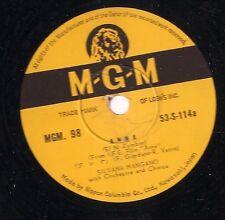 Silvana Mangano on 78 rpm MGM 98: Anna/I Loved You