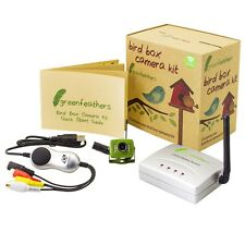 Green Feathers Wireless Bird Box Camera & USB Recording Kit with Night Vision