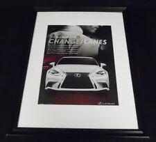 2014 Lexus IS F Sport Framed 11x14 ORIGINAL Vintage Advertisement