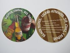 Beer Coaster ~ Pacifico Clara & Corona Extra of Mexico, Red Stripe Lager Jamaica