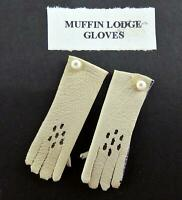 Dolls House Lady's Gloves in Cream Miniature Shop Bedroom Victorian