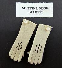 Puppenhaus Damen Handschuhe in Creme Miniatur Shop Schlafzimmer Viktorianisch