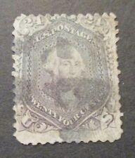 1862 US S#78 24c Washington, lilac Used