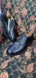 COLE HAAN Mens Dress Black Leather Italian Cap Toe Oxford Shoes Size 11D.