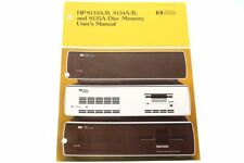 Hewlett Packard HP 9133A/B, 9134A/B and 9135A Disc Memory User's Manual Guide