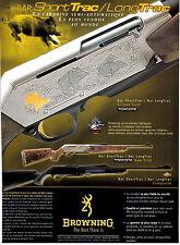 Advertising / Publicité de presse /  CARABINE BROWNING / BAR SHORT TRAC / 2003