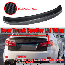 For 06-13 IS250 IS350 ISF WD W Style Carbon Fiber Rear Trunk Wing Spoiler Add On