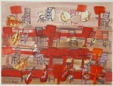 """""""L'entractre : orchestre"""" lithographie signée Raoul DUFY"""