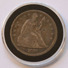 1842 Seated Liberty Dollar KM 71 large 900 silver coin - full liberty