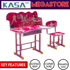 New KASA Work Learning Adjustable Height Kids Study Desk Chair Girls Childrens