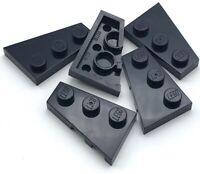 Lego 5 New Black Wedge Plates 3 x 2 Left Pieces