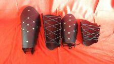 Medieval Leather Arm Guard Leg Guard Bracers Greaves Set Reenactment Armor Larp