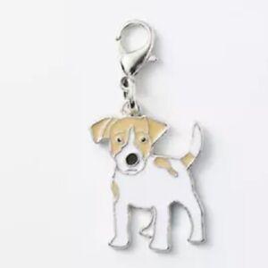 JACK RUSSELL DOG CHARM ZIP PULL BAG CHARM CROCHET COUNTER KEYRING NICE GIFT