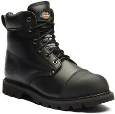 Dickies Crawford Steel Toe-Cap Safety Boots - Mens Black Work Boot FD9210