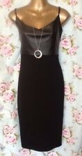 Black Bodycon Dress Faux Leather New Look Size 14 New