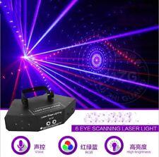 850mW DMX 6 Heads RGB Beam 16 Gobos Laser Light Home Party DJ Stage Lighting Yc