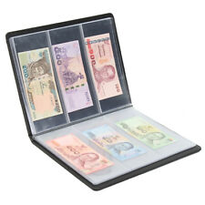 60 Pockets Leather Notes Album Banknote Paper Money Collection STAMPS Book 2018