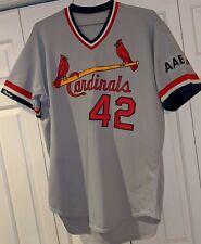 1990Howard Hilton St. Louis Cardinals game used road jersey- AAB Jr mem. patch