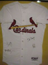 """MAJESTIC ST LOUIS CARDINALS JERSEY SIGNED BY ROCK GROUP """"DISTURBED"""""""