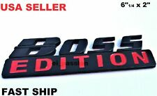 The BOSS EDITION Black Fit All Car & SUV Biker Boat Fenders logo CUSTOM EMBLEMS