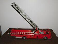 "VINTAGE TOY  28"" LONG RED ROSSMOYNE  DOEPKE MODEL METAL AERIAL LADDER FIRE TRUCK"