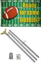 3x5 Advertising Ready For Some Football Flag Aluminum Pole Kit Set 3'x5'