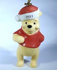 Lenox 2011 Annual Pooh'S Santa Surprise Disney Showcase Christmas Ornament New I
