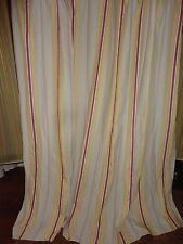 WOOLRICH YELLOW RED KHAKI TAN FABRIC SHOWER CURTAIN 72 X 72