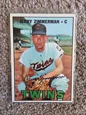 +++ JERRY ZIMMERMAN 1967 TOPPS BASEBALL CARD #501 - MINNESOTA TWINS +++