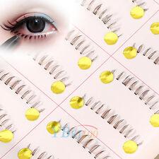 10 Pair Handmade Long Lower Eye Lash Brown Bottom Fake False Eyelashes Extension