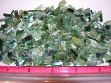Tourmaline crystal blue green all natural mine rough 80 carat lots 50+ pieces